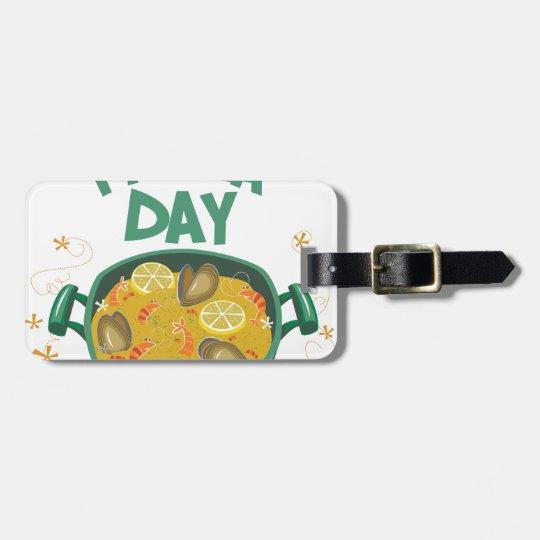 27. März - spanischer Paella-Tag Kofferanhänger