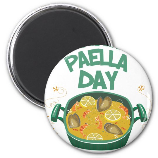 27. März - spanischer Paella-Tag Runder Magnet 5,7 Cm