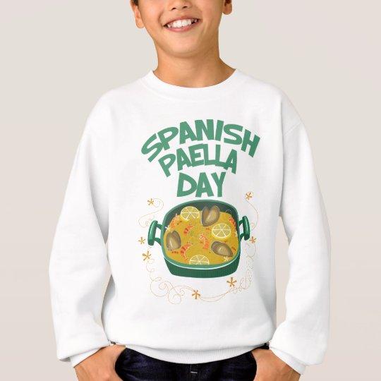 27. März - spanischer Paella-Tag Sweatshirt
