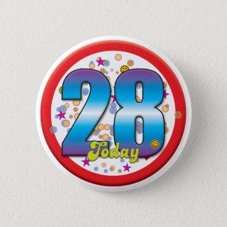 28. Geburtstag heute v2 Runder Button 5,1 Cm