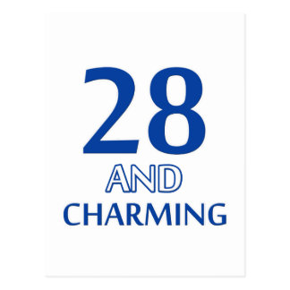 28-Geburtstags-Entwurf Postkarte
