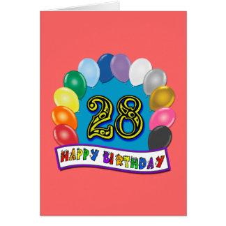 28. Geburtstags-Geschenke mit sortiertem Karte