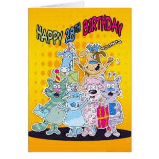 28. Geburtstags-Karte - Moonies Doodlematoons Karte