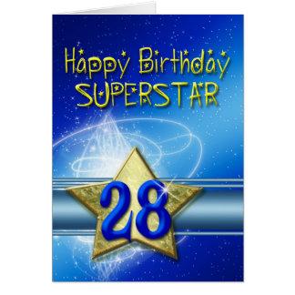 28. Geburtstagskarte für Superstar Karte