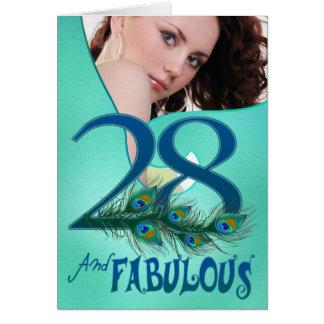 28. Geburtstagsschablone Karten
