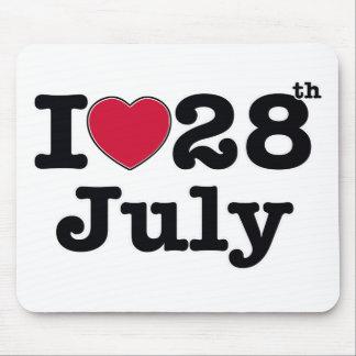 28. Juli mein Tag des Geburtstages Mousepad