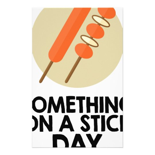28. März - etwas an einem Stock-Tag Briefpapier