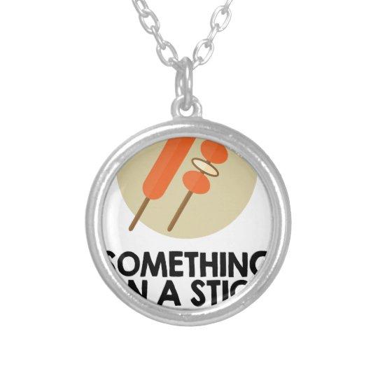 28. März - etwas an einem Stock-Tag Halskette Mit Rundem Anhänger