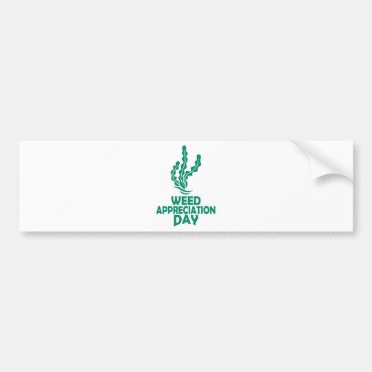 28. März - Unkraut-Anerkennungs-Tag Autoaufkleber