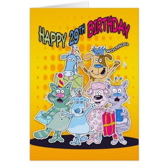 29. Geburtstags-Karte - Moonies Doodlematoons Grußkarte