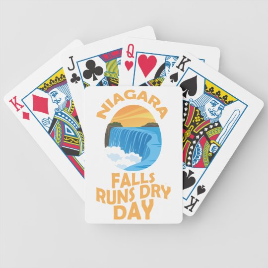 29. März - Niagara Falls lässt trockenen Tag Bicycle Spielkarten