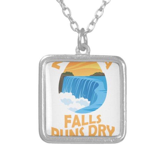 29. März - Niagara Falls lässt trockenen Tag Halskette Mit Quadratischem Anhänger