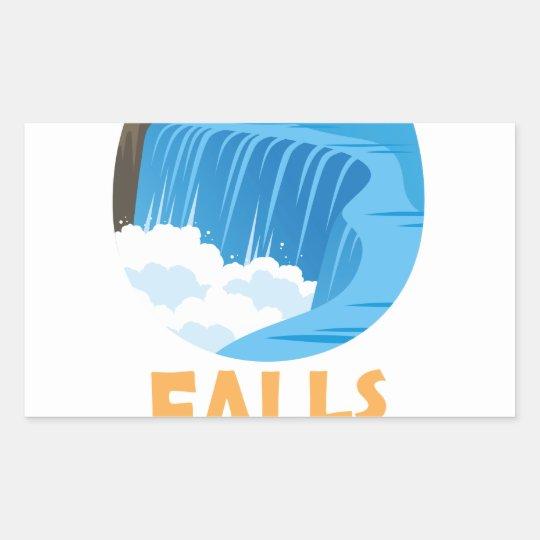 29. März - Niagara Falls lässt trockenen Tag Rechteckiger Aufkleber