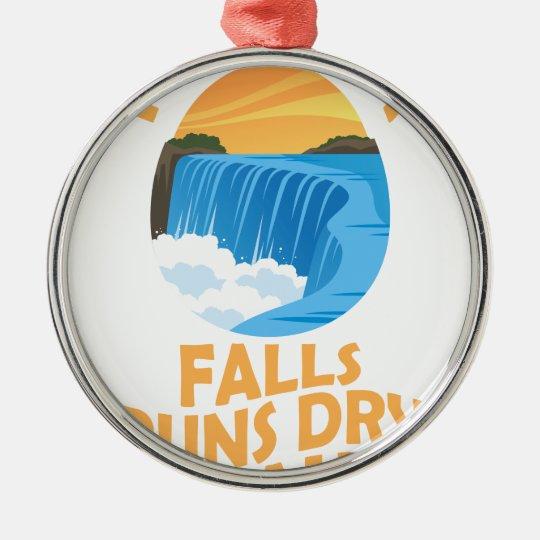 29. März - Niagara Falls lässt trockenen Tag Rundes Silberfarbenes Ornament