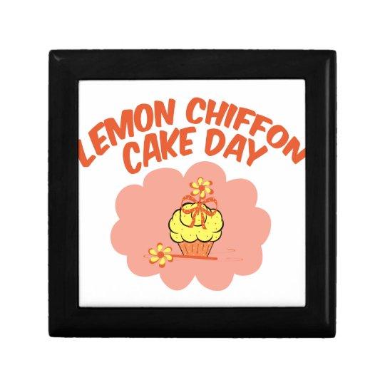 29. März - Zitronen-Chiffon- Kuchen-Tag Kleine Quadratische Schatulle