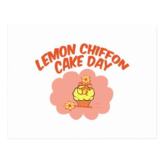29. März - Zitronen-Chiffon- Kuchen-Tag Postkarte
