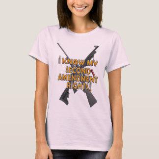 2. Änderungs-Gewehr-Rechte - rosa T - Shirt