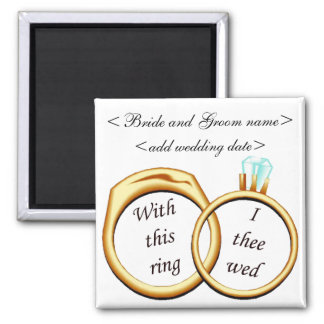 2 anneaux de mariage aimant