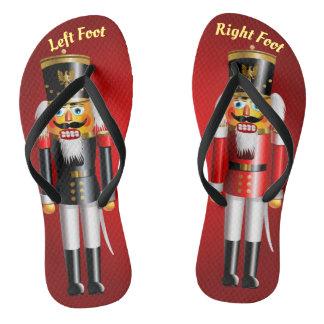 2 authentische Nussknacker-Spielzeug-Soldaten Flip Flops