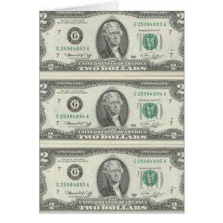2 Dollar Karte