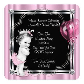 2. Geburtstag Party Prinzessin- Einladungskarte