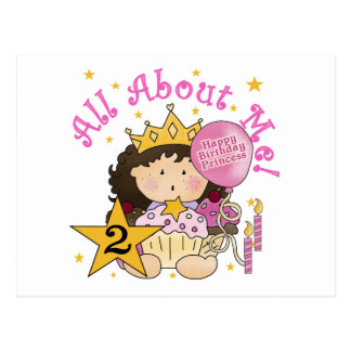 2. Geburtstag Prinzessin-All About Me Postkarte