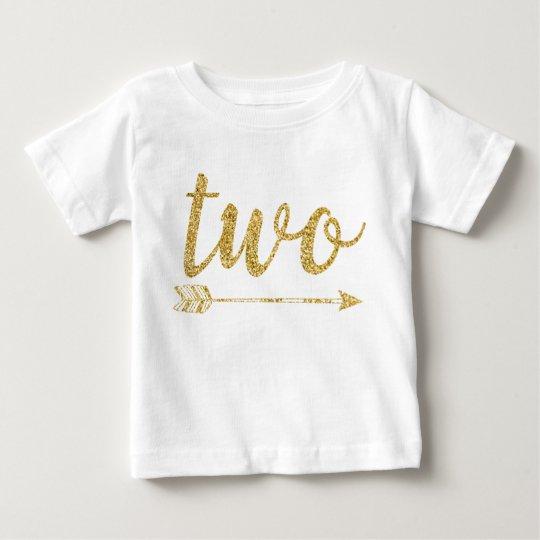 2. Geburtstags-Baby Glitter-Druck Baby T-shirt