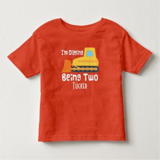 2. Geburtstags-Planierraupen-Bau-T - Shirt