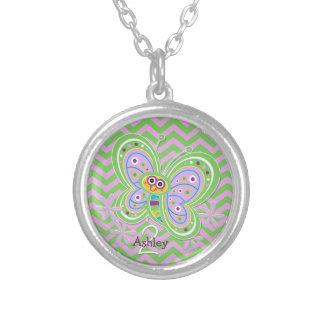 2. Geburtstags-Schmetterling umarmt Gewohnheit Halskette Mit Rundem Anhänger
