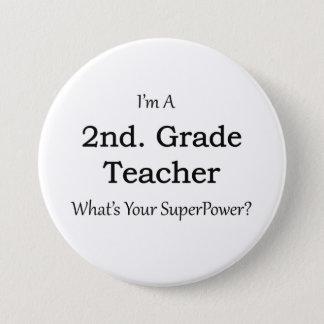 2. Grad-Lehrer Runder Button 7,6 Cm