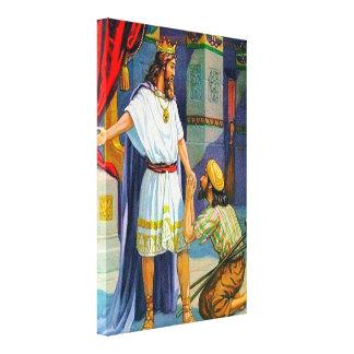 2 Güte Samuel 9 zu Mephibosheth Leinwand Galerie Faltleinwand