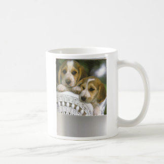 2 Hunde auf einem Stuhl Kaffeetasse