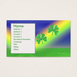 2 Klee - Geschäft Visitenkarte