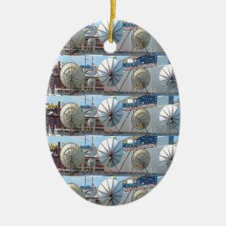 2 Seite Druckverzierungs-Boston-Parabolantenne Ovales Keramik Ornament