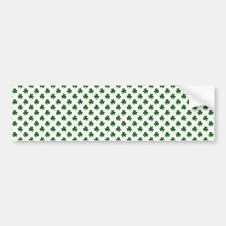 2-Ton Kleeblatt-Grün auf weißen St Patrick Klee Autoaufkleber