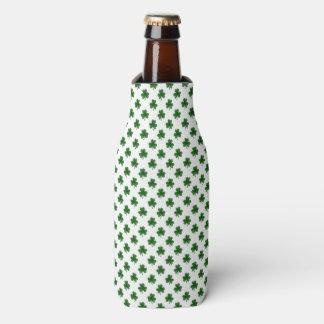 2-Ton Kleeblatt-Grün auf weißen St Patrick Klee Flaschenkühler