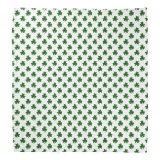 2-Ton Kleeblatt-Grün auf weißen St Patrick Klee Halstuch