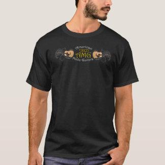 2 versah amerikanisches hergestelltes T-Shirt