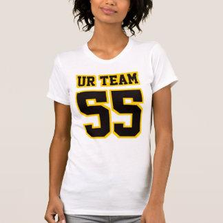 2 WEISSES SCHWARZES SEITENGOLDamerikanisches T-Shirt