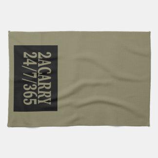 2A TRAGEN die 24/7/365 GEWEHR-RECHTE Handtuch