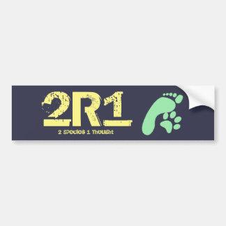 2R1 (2 Spezies - 1 gedacht) Autoaufkleber