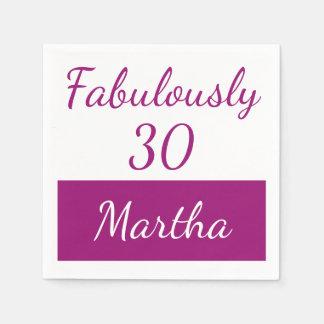 30. Geburtstag personifizieren Rosa fabelhaft 30 Servietten