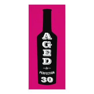 30. Geburtstags-Einladungs-Wein gealtert zur Karte