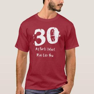 30. Geburtstags-Geschenk dreißig Jahre des T-Shirt