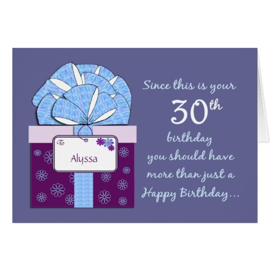 30. Geburtstags-kundengerechte Karte