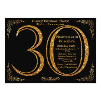 30., Geburtstags-Party, dreißig, Gatsby, Schwarzes Karte