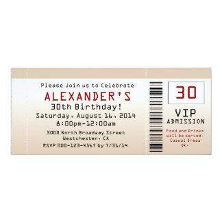 30. Geburtstags-Party Einladungs-Sand-Karte Individuelle Einladungskarten