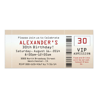 30. Geburtstags-Party Einladungs-Sand-Karte 10,2 X 23,5 Cm Einladungskarte