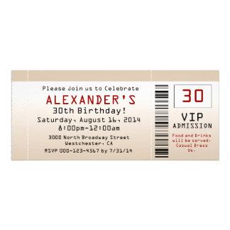 30 Geburtstags-Party Einladungs-Sand-Karte Individuelle Einladungskarten