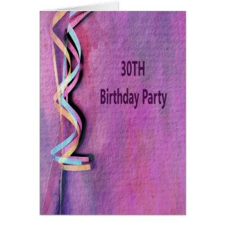 30. Geburtstags-Party Karte